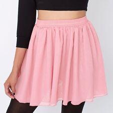 American Apparel Chiffon Pink Mini Skirt Size M/L, RRp £40