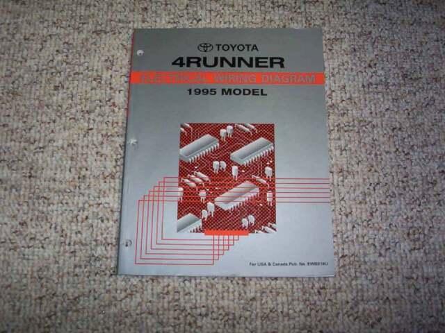 1995 Toyota 4runner Electrical Wiring Diagram Manual Sr5 2