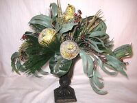 Artificial Floral Arrangement Centerpiece Holiday/christmas In Vase