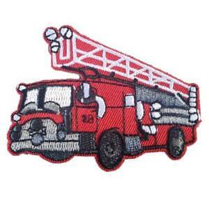 Red-Fire-Engine-fire-Truck-Iron-On-Patch-Sew-on-Embroidered-transfer