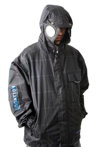Da Uomo Posizione Goggle Recco iPod Giacca con cappuccio Cappotto Pioggia Impermeabile SCACCHI