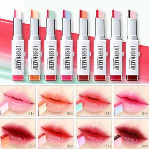 TWO-Tone-Tinta-Per-Labbra-Barra-lunga-durata-impermeabile-colore-Cambiare-Rossetto-Balsamo-Labbra-2g