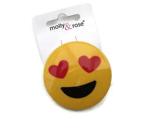 Details about Fab and Fun Emoji Heart Face Hair Clip Grip 5 cms *NEW* from  a UK Seller