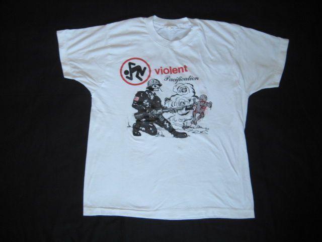 Dirty Rotten Imbeciles Vintage T-Shirt Gewalttätige Versöhnung 80s Jahre Dunkel