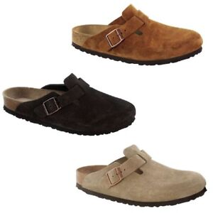 740b81ceccd Image is loading Birkenstock-Boston-Mink-Mocca-Taupe-Suede-Leather-SFB-