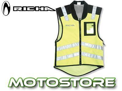 RICHA RAIN  OVER VEST TOP WATERPROOF MOTORCYCLE HI-VIZ SLEEVELESS SAFETY JACKET