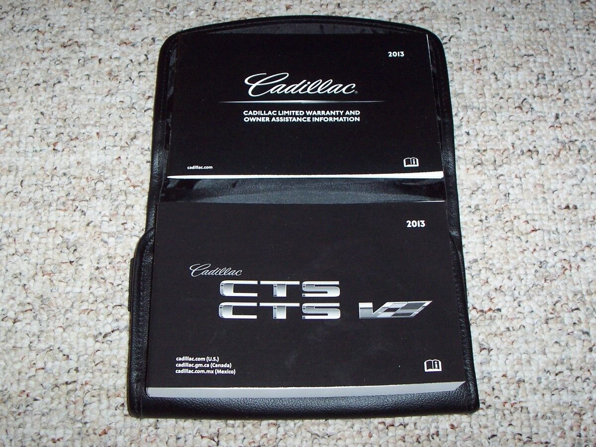2013 Cadillac CTS CTS-V Owner Manual User Guide Set Premium Performance Luxury