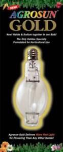 New in Box Agrosun Gold MH 250w High Output Horizontal Bulb Discreet Shipping