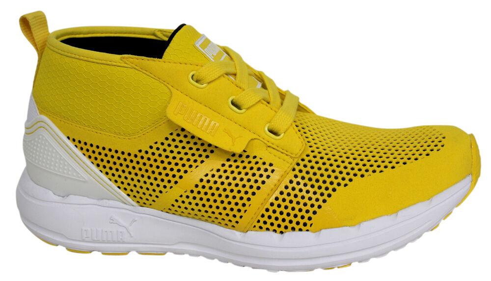 Puma Hawthorne Mid Top Mens Mesh Trainers Yellow Lace Up 353045 04 D72 Cheap women's shoes women's shoes