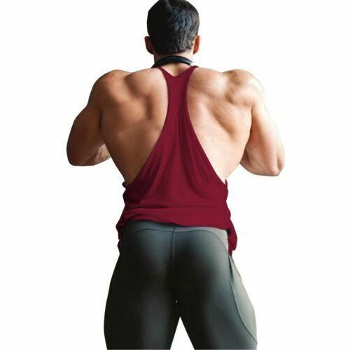 lot 100 Pack Gym Cotton Men Tank Top Vest Muscle Sleeveless Bodybuilding Fitness