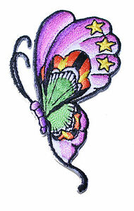 A1256-Parche-Parche-Rockabilly-Old-New-Escuela-Tatuaje-Butterfly-Mariposa-li
