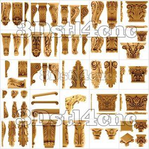 25-3D-Models-STL-CNC-Router-Artcam-Aspire-Corbel-Kapital-Decor-Cut3D-Vcarve