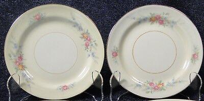 "Homer Laughlin Eggshell Nautilus Ferndale Bread Plates 6 1/8"" Set of 2 NICE"