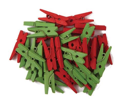 36 x Mini Klammern Wäscheklammern rot//grün goldfarben//silberfarben MiniKlammern