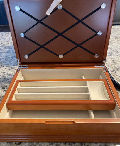 Pen Box Solid Wood With 10 Montefiore Pens
