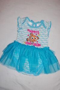 "Disney Store Baby Girls Nemo /""Hello Summer/"" Sleeveless Bodysuit Finding Nemo"