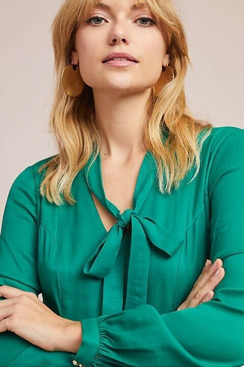 baf49f83d8a ... NWT New New New Anthropologie Gina Keyhole Dress by Moulinette Soeurs  Green Size 2 f7404a