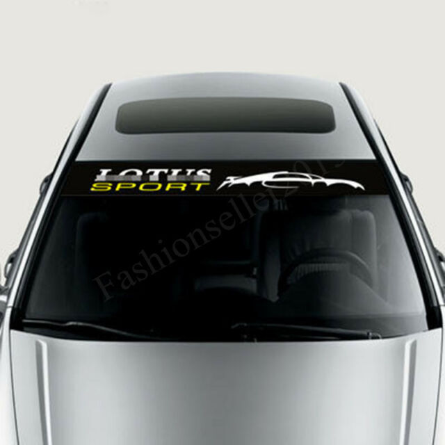 Reflective Front Windshield Decal Vinyl Car Stickers for LOTUS Auto Window Deco