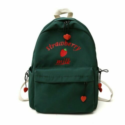 Lady Girl Japanese Backpack Bags Strawberry Cute Kawaii Lolita Casual Retro Chic