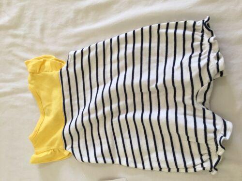 NWT Gymboree Lemon Stripe Romper Baby Girl Newborn Essential 0-3-6-12-18