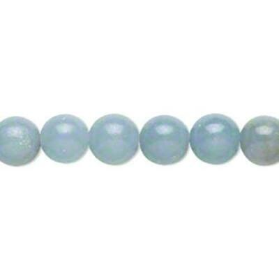Angelite Round Beads 8mm Blue 8 Pcs Gemstones DIY Jewellery Making Crafts