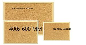 CORK PIN NOTICE BOARD Reinforced Wooden Framed Push Pin Memo Office Message NEW