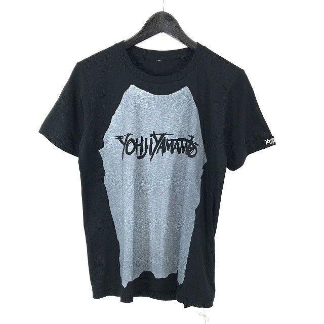 Yohji Yamamoto Ground Y graphic T-hemd schwarz x grau NWTs (001-036)