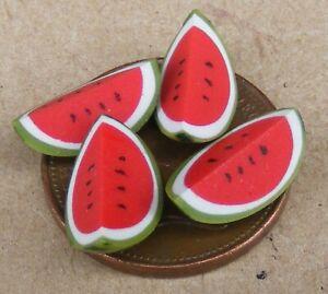 2019 DernièRe Conception Échelle 1:12 4 Moyen De L'eau Melon Quart Pièces Tumdee Maison De Poupées Miniature-afficher Le Titre D'origine Belle Qualité