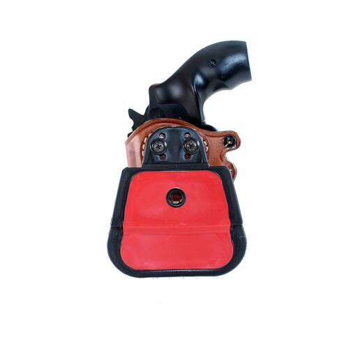 """Leather OWB Paddle Holster Open Top Fits S/&W Model 686 2.5/""""BBL 357 Magnum #7095#"""