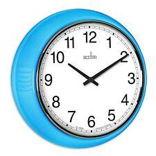 Acctim 27379 Lorene Quartz 240mm Classic Bold Stylish Wall Clock, Blue