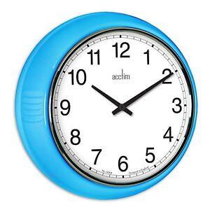 Acctim-27379-Lorene-QUARTZ-240mm-classique-epais-style-Horloge-murale-bleu