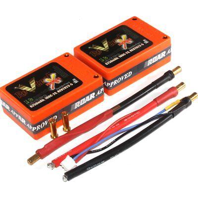 Revtech 6250mAh 7.4v 2s 100c Lipo Saddle Battery Pack 5mm Bullet REV2023-5
