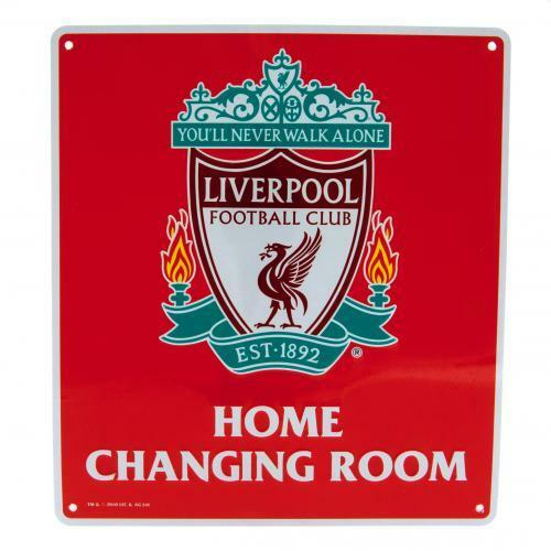 Official Liverpool FC Home Changing Room Metal Sign FREE UKP+P