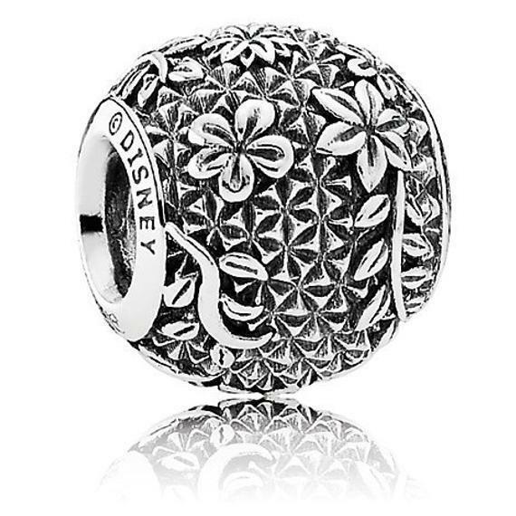 NIB Disney Epcot Flower and Garden Floral PANDORA Jewelry Charm Spaceship  Earth