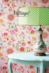 9-20-qm-Tapete-Eijffinger-Pip-313053-Floral-Blumen-Voegel-Rosa