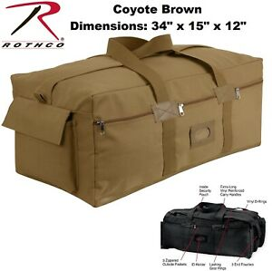 da333fe63c Details about Coyote Brown Heavy Duty Cotton Canvas Israeli Mossad IDF Duffle  Bag Carry 8137