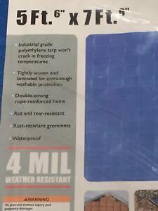 c128ccda9d2d48 5 x 7 Blue All Purpose Weather Resistant Light Duty Tarp Waterproof ...