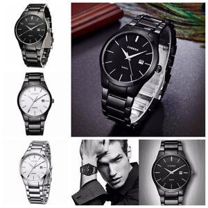CURREN-Men-039-s-Stainless-Steel-Date-Quartz-Waterproof-Sport-Fashion-Wrist-Watch
