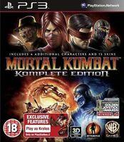 Mortal Kombat - Komplete Edition For PAL PS3 (New & Sealed)