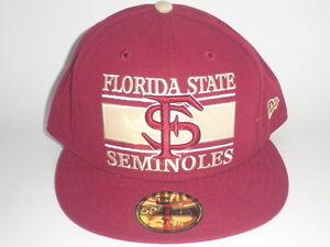 86409ac5df4 New Era 59Fifty Florida St Seminoles FROSH Hat 7 3 8 ( 32) NCAA Cap ...