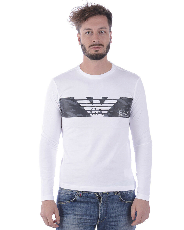 T shirt Maglietta Emporio Armani EA7 Sweatshirt  Herren Bianco 3ZPT47PJ30Z 1100