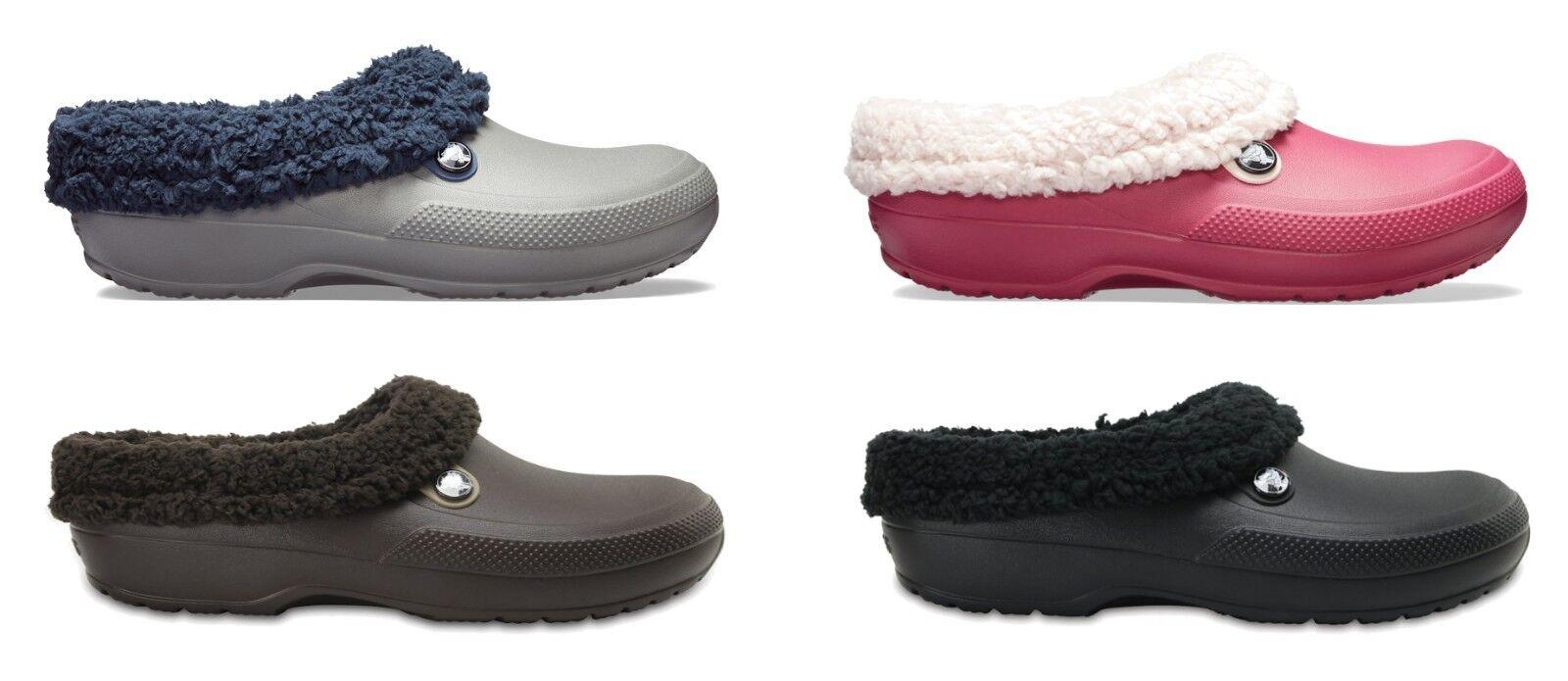 Crocs Blitzen III Mens Womens Faux Fur Lined Warm Croslite Slip On Clogs.