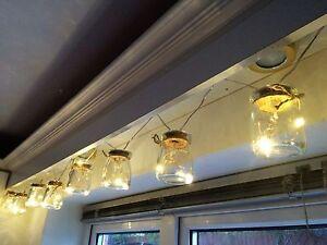 24-LED-Pile-macon-Pot-de-confiture-Interieur-Lampe-Conte-De-Fee-Blanc-Chaud