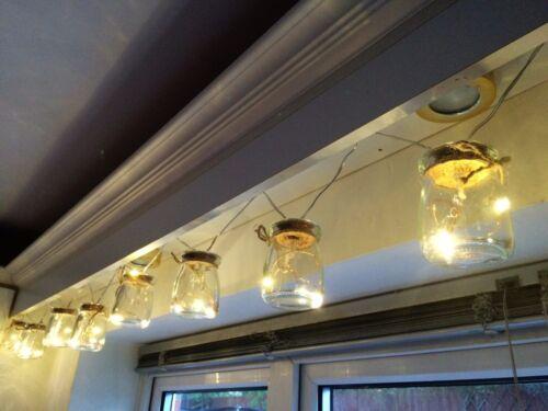 24 LED Battery Mason Jam Jar Indoor Fairy Lights Warm White Wedding Party Decor
