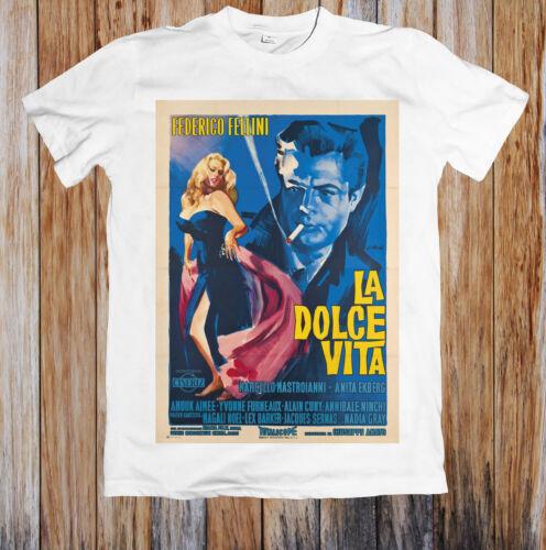 La Dolce Vita 1960s Retro Movie Poster Unisex T Shirt