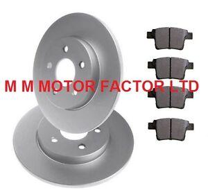 Ford-Mondeo-Mk3-2004-2007-1-8-2-0-TDCi-2-2-2-5-ST220-Discos-De-Freno-Trasero-amp-Pastillas