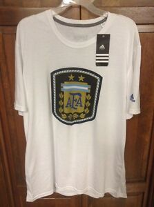 Adidas Hombre Climalite Blanca Camiseta Xxl 2xl World Argentina Afa A1xqAZr