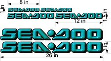 SEA-DOO-TEAL-3D-LOGO-3x26-DECAL-SET-GRAPHIC-STICKER-PACKAGE, REPLACEMENT