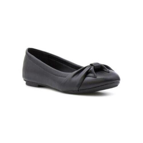 Lilley Filles Nœud Noir Ballerine Chaussures uk 3 eu 36 JS180 PP 05