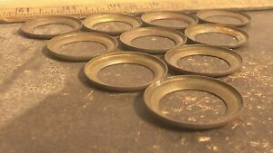 Lot-of-10-Brass-Beveled-Washers-Rings-NOS